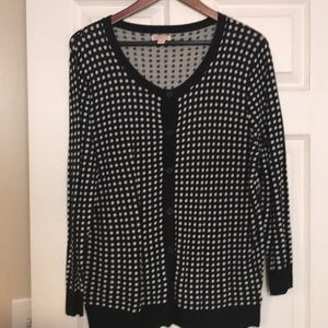 Sweater black and white dots! XL